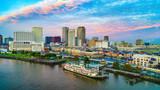 New Orleans, Louisiana, USA Downtown Skyline Aerial - 225433152
