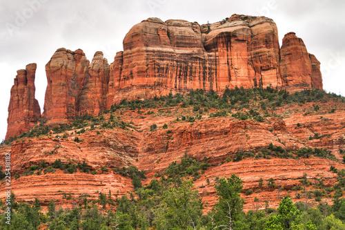 Towering red rock formation in Sedona, Arizona (USA)