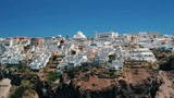Aerial view of Thira in Santorini island and its unique architecture. - 225445977