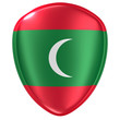 3d rendering of a Maldives flag icon.