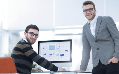 businessman and the employee of the company