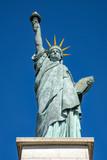 statue of Liberty  in Paris on the ile aux Cygnes,  Paris, France