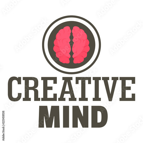Creative mind logo. Flat illustration of creative mind vector logo for web design