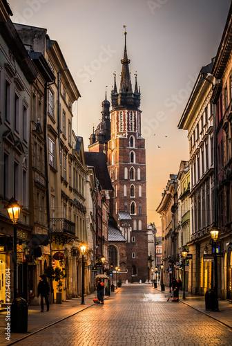 Sunrise in Krakow, Poland