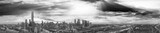 Panoramic aerial view of Melbourne from helicopter, Australia in black and white view - 225463707
