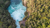 Aerial panoramic view of Huka Falls in Taupo, New Zealand - 225463783
