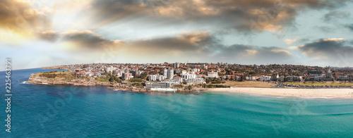 Bondi Beach panoramic aerial skyline, Sydney - 225463791