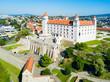 Leinwanddruck Bild - Bratislava aerial panoramic view