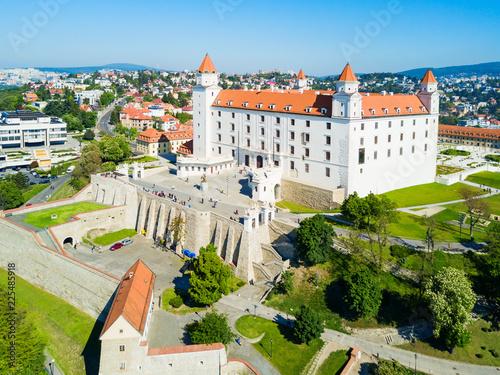 Leinwanddruck Bild Bratislava aerial panoramic view