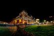 paris justice palace conciergerie at night