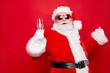 Leinwanddruck Bild - Merry holly careless festive newyear dreamy Santa chill out cong