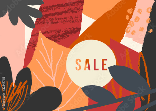 Abstract Autumn Sale Design - 225497115