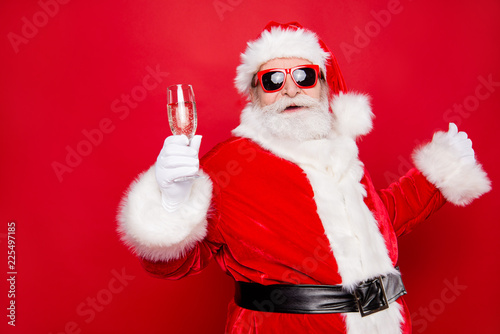 Leinwanddruck Bild Merry holly careless festive newyear dreamy Santa chill out cong