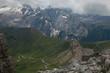 Quadro Veduta panoramica delle dolomiti dal Passo Pordoi