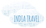 India Travel word cloud.