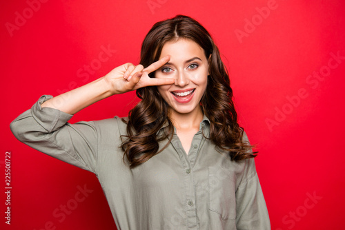Leinwandbild Motiv Attractive, pretty, dreamy, charming, lovely young brunette woma
