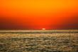 Rays of sunset on the black sea