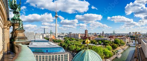 Leinwanddruck Bild berlin city center seen from the berlin cathedral