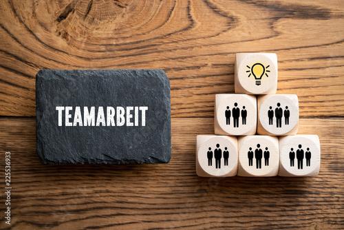Leinwanddruck Bild Idee durch Teamarbeit