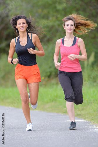 Fototapeta jogging with friends