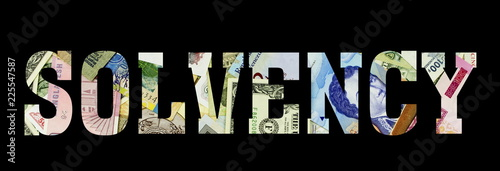 solvency Different Worlds Banknotes. Background for business. Money concept - 225547587