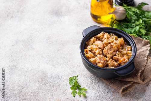 Braised cabbage with a meat - 225552101