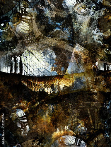 Manhattan Grunge Abstract - 225556574