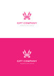 Pink butterfly. Gift company logo teamplate. - 225560399