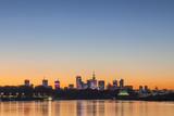 Warsaw skyline at dusk - 225589362
