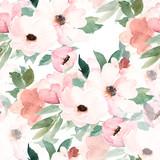 Watercolor seamless pattern. Floral print. Hand drawn watercolour illustration - 225630342