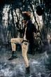 Leinwandbild Motiv frightening punk clown