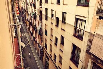 Backstreet of Barcelona, urban background © e_polischuk