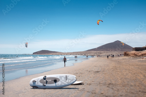 Fototapeta El Médano beach, in south of Tenerife island (Canary Islands. Spain)