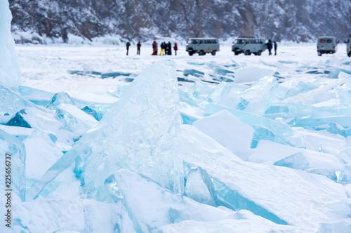 Ice hummocks of Lake Baikal - 225656737
