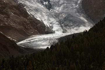 alpine glacier in summer