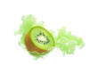 Kiwi fruit with ink isolated over white background - 225662554