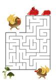 Funny maze game for Preschool Children. Illustration of logical education for children of preschool age. - 225681542