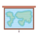 training world map hanging
