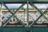 Railway bridge over the river Thames in London, United Kingdom