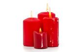 Vier rote Kerzen - 225704908
