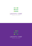 Dots logistic corporation logo teamplate.