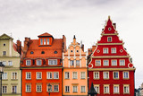 Buildings on the medieval Market Square in Wroclaw, Poland
