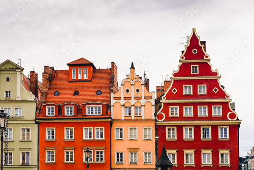 obraz PCV Buildings on the medieval Market Square in Wroclaw, Poland