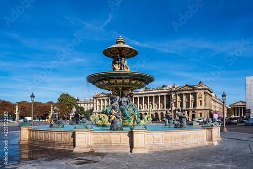 Blick auf den Place de la Concorde in Paris, Frankreich