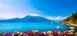 Leinwandbild Motiv Varenna town, Como Lake district landscape. Italy, Europe.