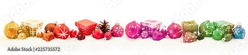 Leinwandbild Motiv Bunter Weihnachten Panorama Header