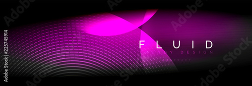 Vector blurred neon glowing circles with flowing and liquid light concept, energy magic fantastic abstract background
