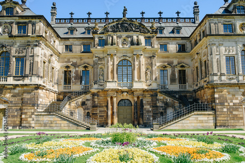 Dresden 18 May 2017 Baroque Palace Of Palaisteich In Grosser