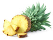 Leinwanddruck Bild - Half and sliced pineapple fruit