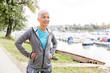 Leinwanddruck Bild - Healthy Active Senior Woman Ready For Fitness Exercise